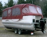 Burgandy Pontoon Enclosure